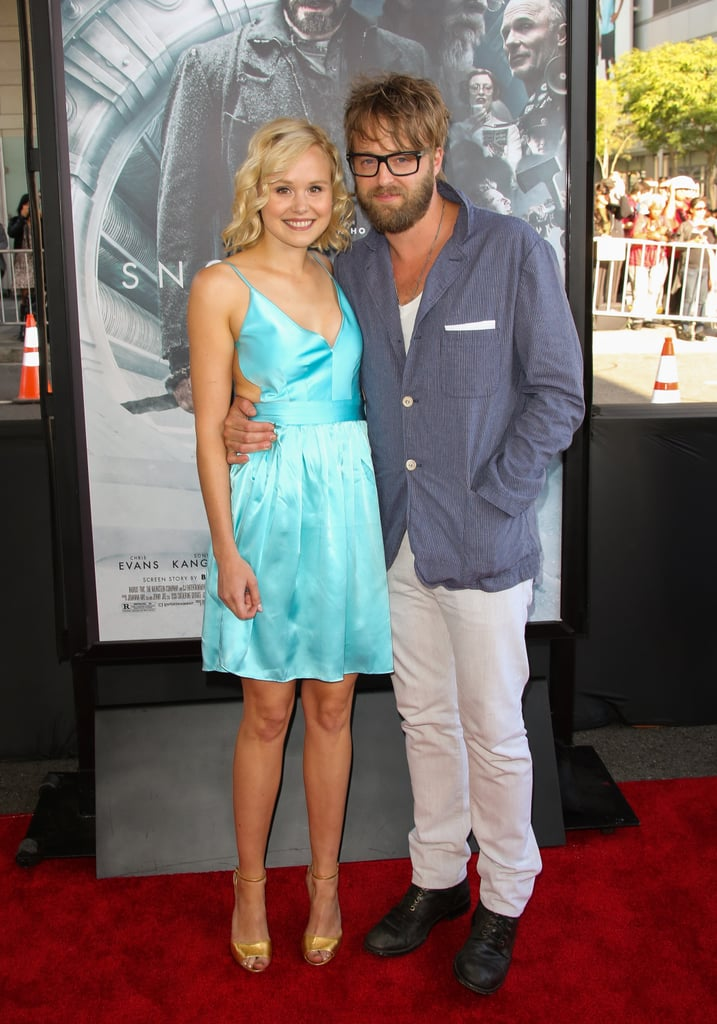 Alison Pill was joined on the carpet by her boyfriend, Josh Leonard.