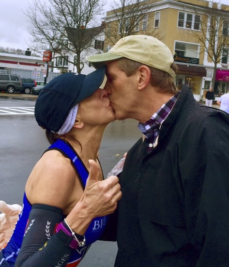 Boston Marathon Kiss