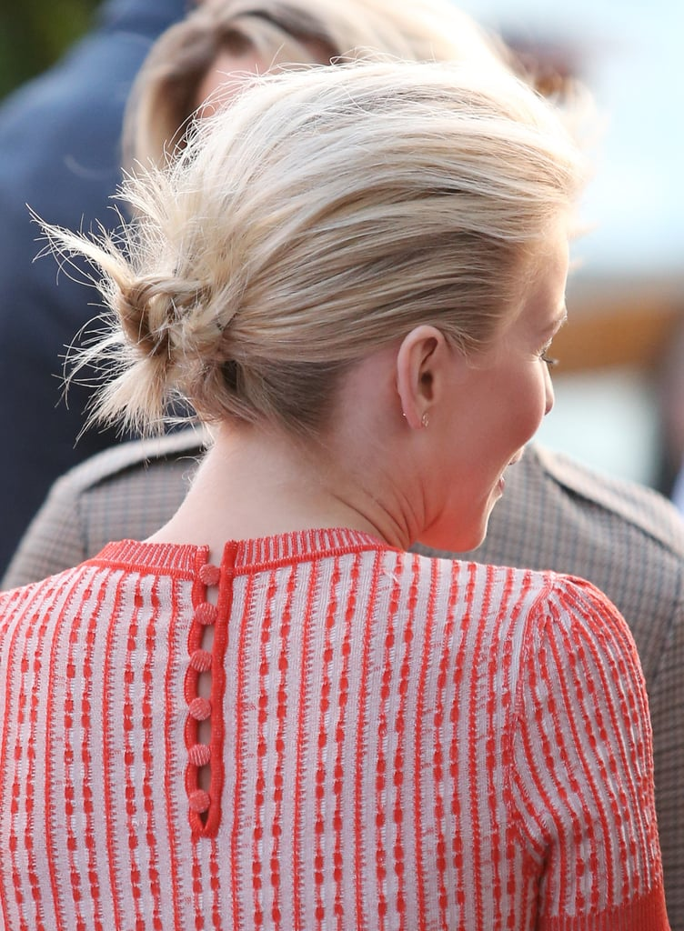 Here's a look Julianne's tousled bun from the back.