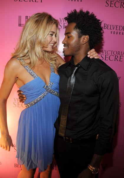 Doutzen Kroes and DJ Ruckus.