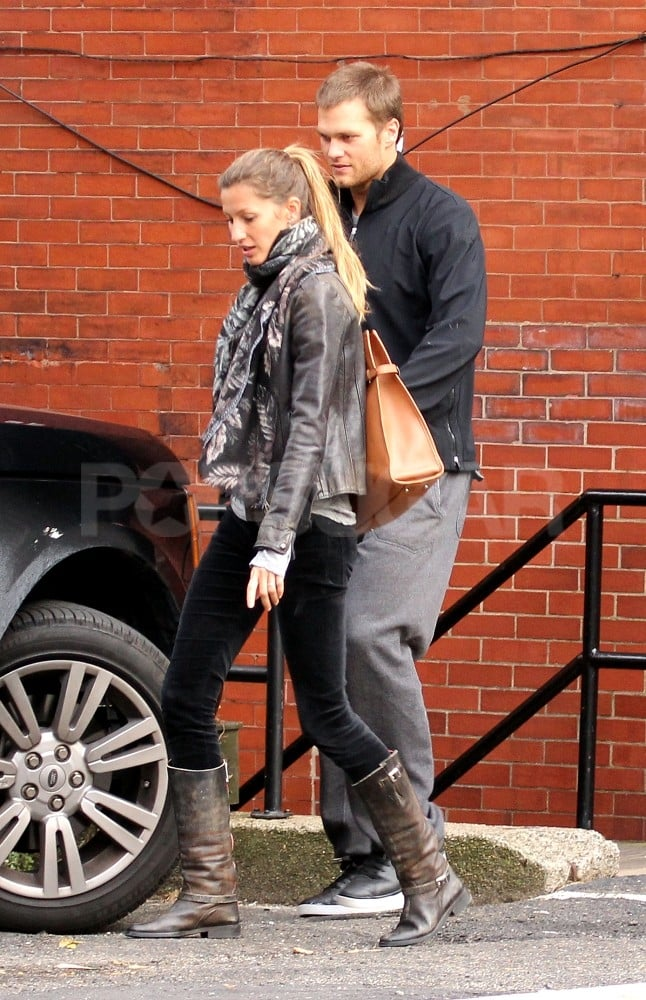 Gisele Bundchen and Tom Brady ran errands in Boston.