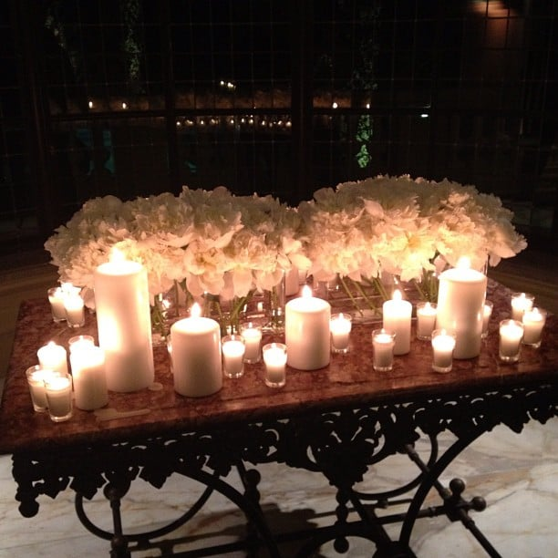 It was a luxe Calvin Klein bash at a villa outside the city center, complete with candles and flowers.
