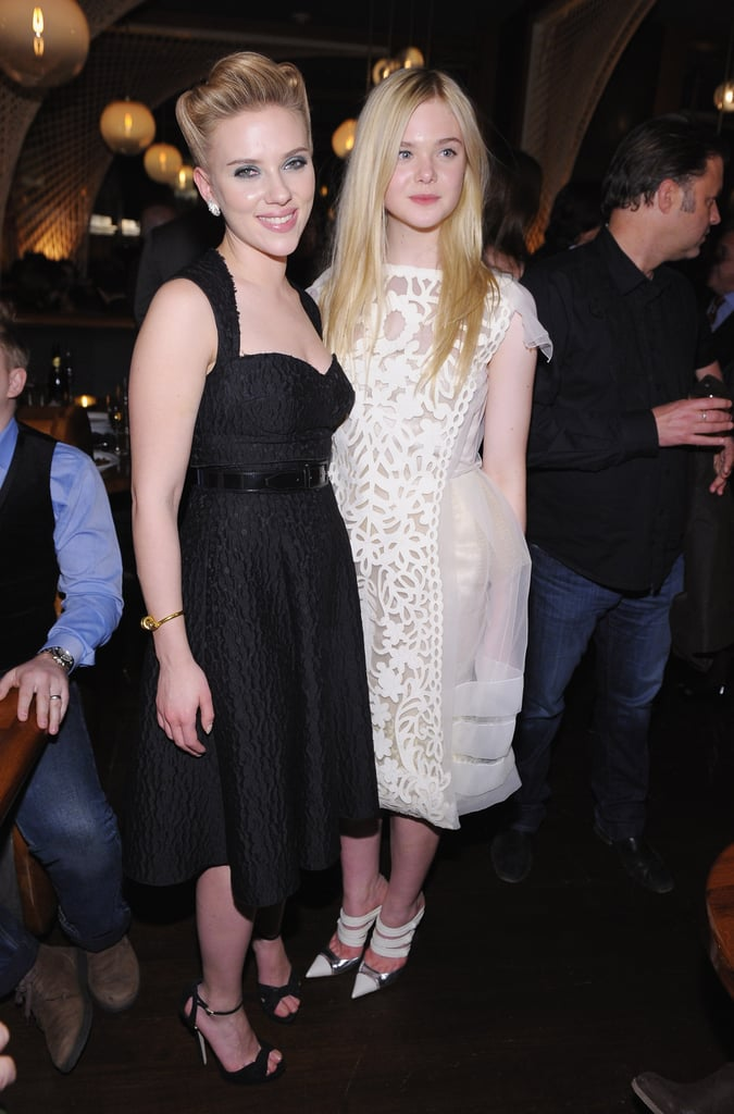 Scarlett Johansson and Elle Fanning have formed a close bond from working together on their new holiday film.