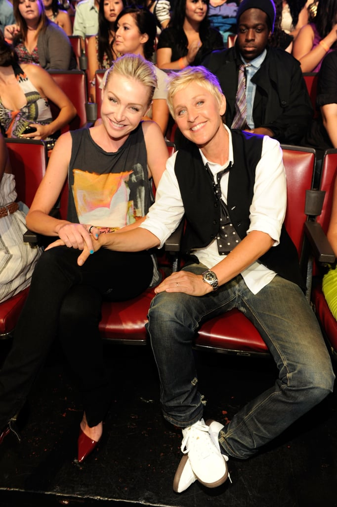 Portia and Ellen enjoyed the August 2011 Teen Choice Awards from the front row.