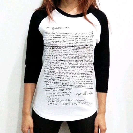 T-Shirt With Kurt Cobain Suicide Note