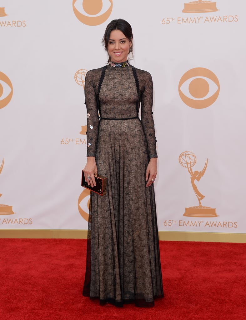 Aubrey Plaza stepped out for the 2013 Emmys.