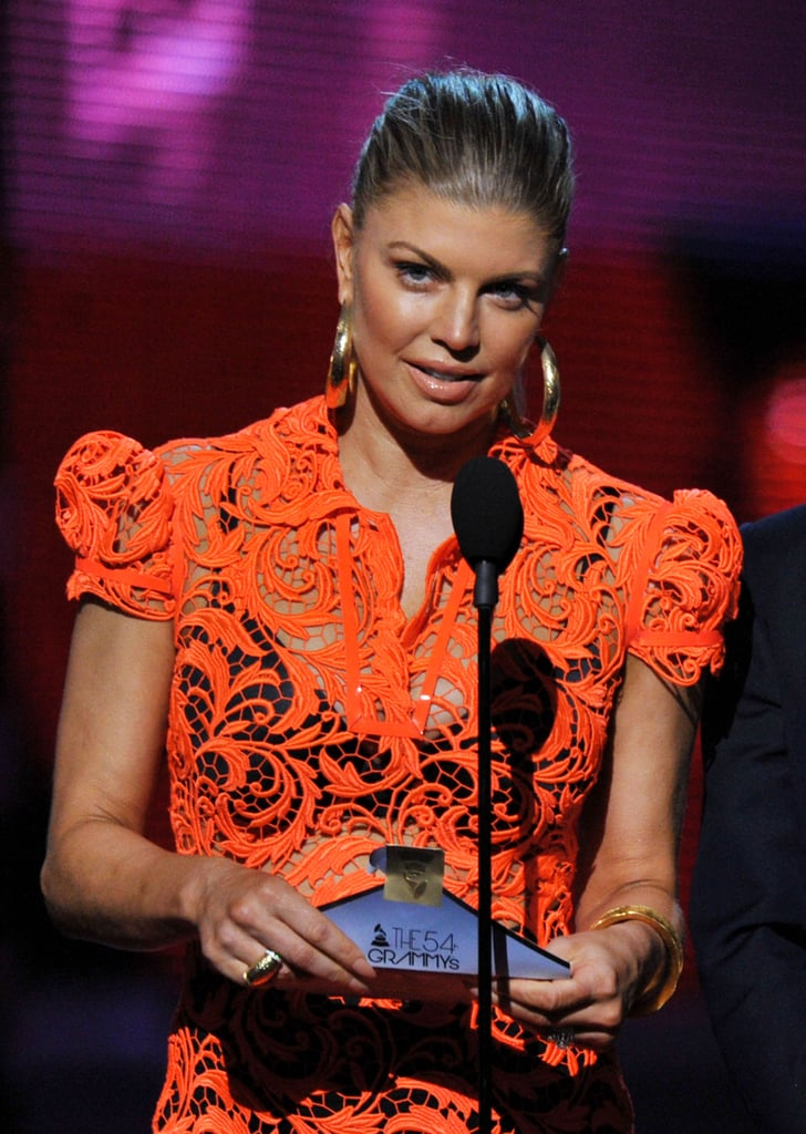 Fergie hit the stage to present an award.