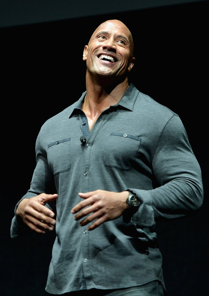 The Rock wasn't sure if this shirt would fit, so he MADE it fit.