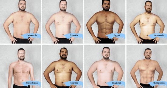 What The 'Ideal' Man's Body Looks Like In 19 Countries