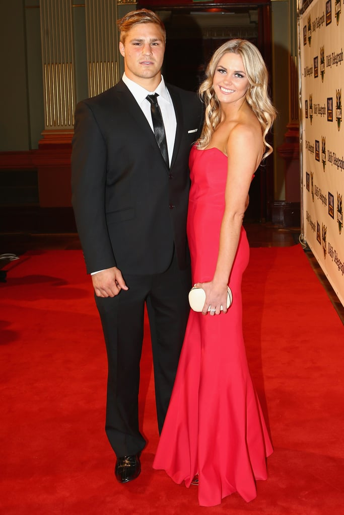 Jack De Belin and Alyce Taylor lit up the red carpet at the 2012 Dally M Awards.