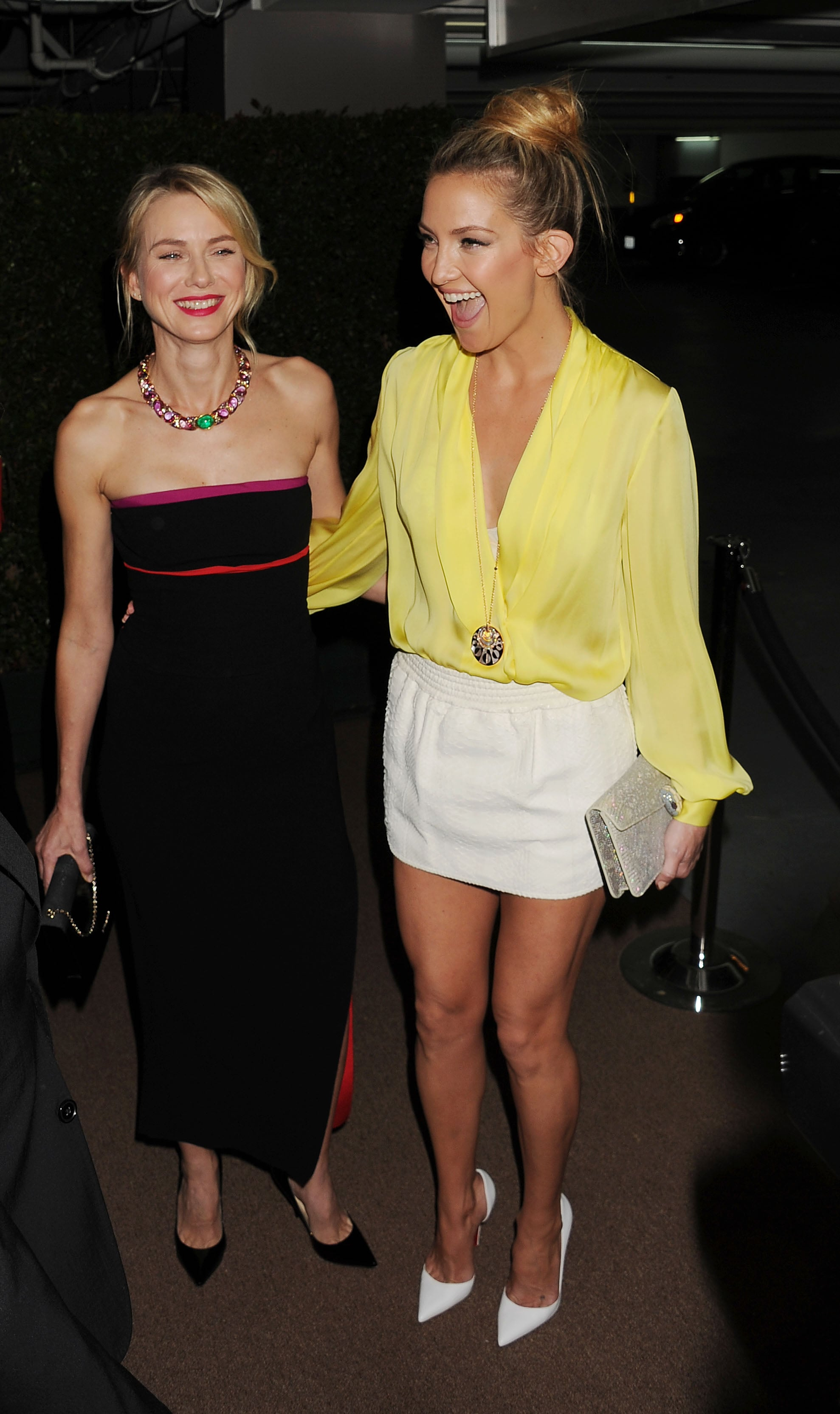 Naomi Watts hosted Bulgari's party on Tuesday, which brought out her pal Kate Hudson.
