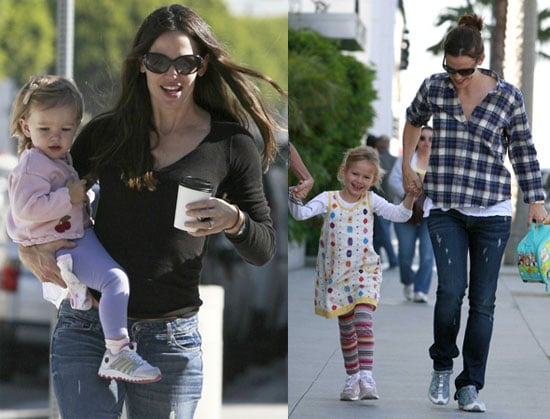 Pictures of Jennifer Garner With Violet and Seraphina Affleck in LA