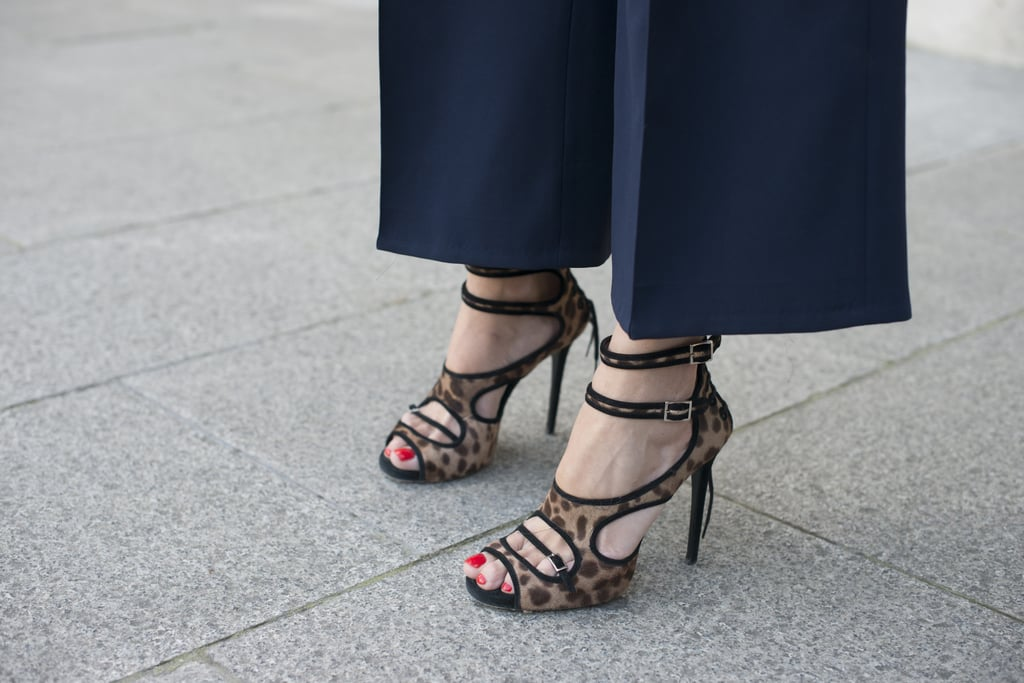 A pair of leopard print Tabitha Simmons heels are just the kind we'd want to be stomping around in come Fashion Week.