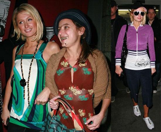 Paris Hilton and Christine Lakin at Katsuya