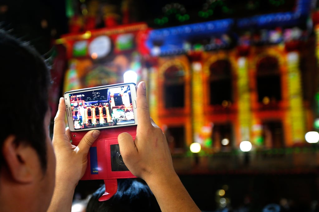 Visitors snapped pictures of Melbourne's Christmas decor in Australia.