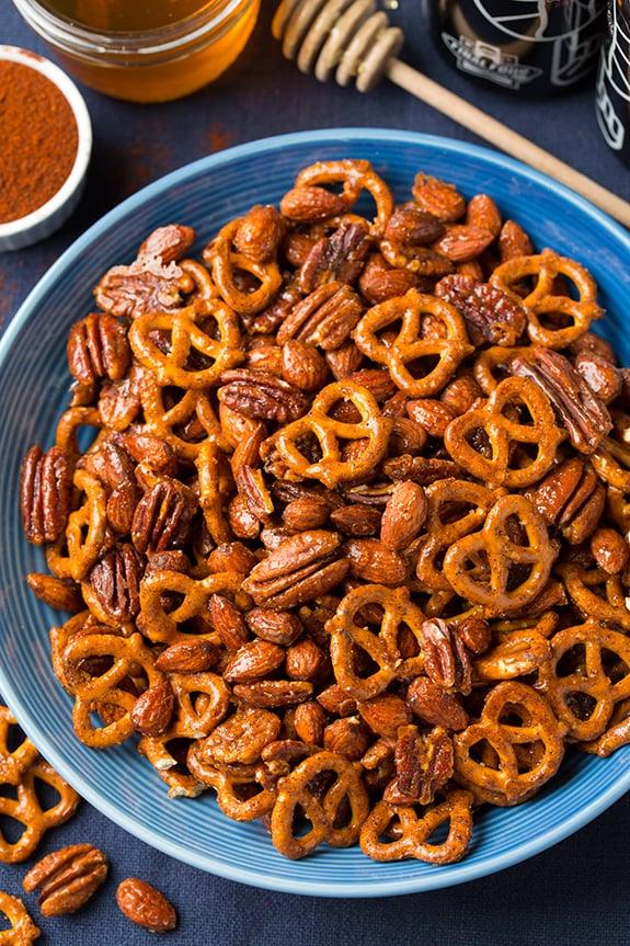 Honey-Chipotle Nut and Pretzel Mix