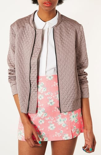 Topshop Quilted Oversized Bomber Jacket