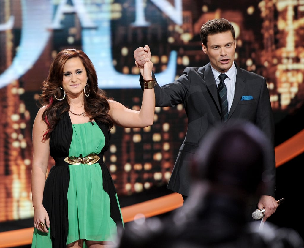 Ryan Seacrest with a contestant on American Idol.