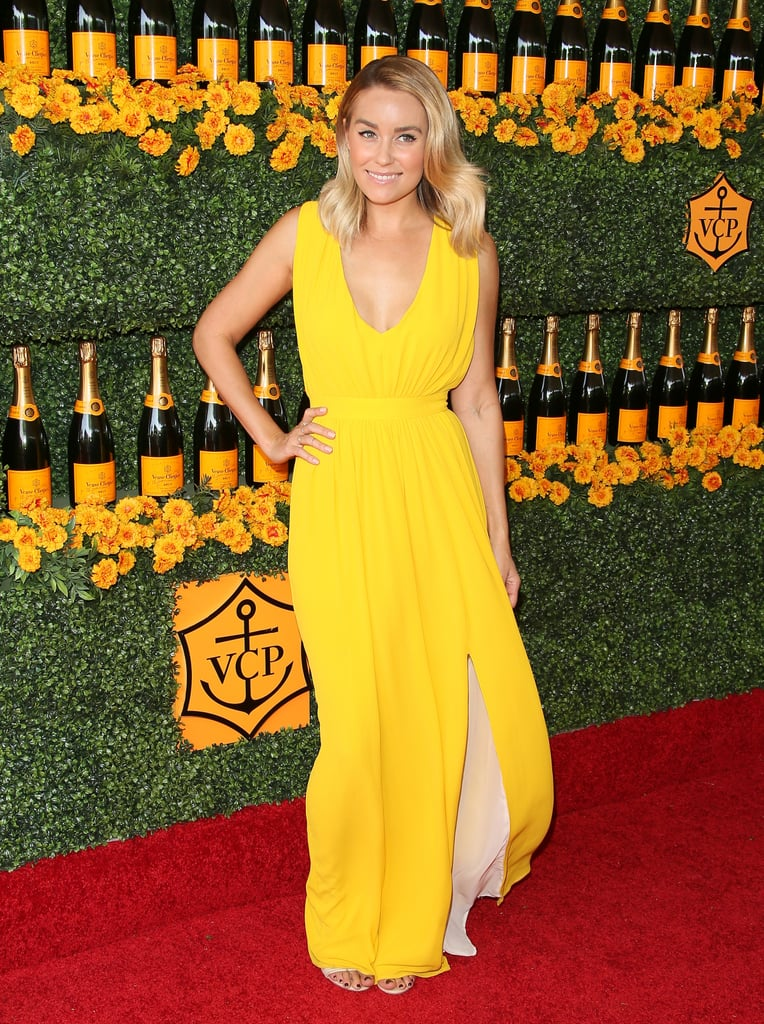 She wore an eye-catching yellow maxi dress to the 2015 Veuve Clicquot Polo Classic. Lesson from Lauren: when it comes to a bold dress, simplicity is key.