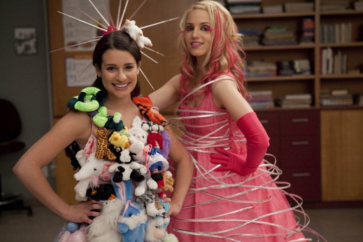 Rachel Berry and Quinn Fabray both date . . .