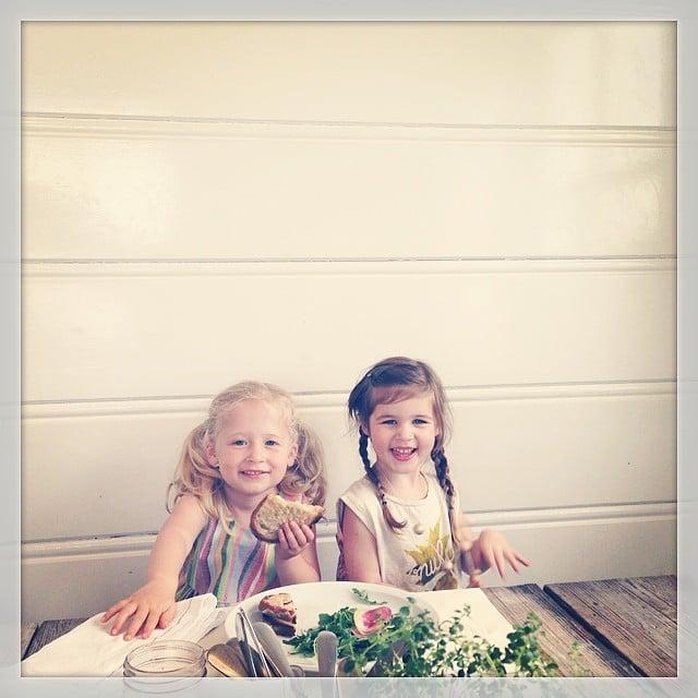 Harper Smith was joined by a friend for lunch al fresco. Source: Instagram user tathiessen