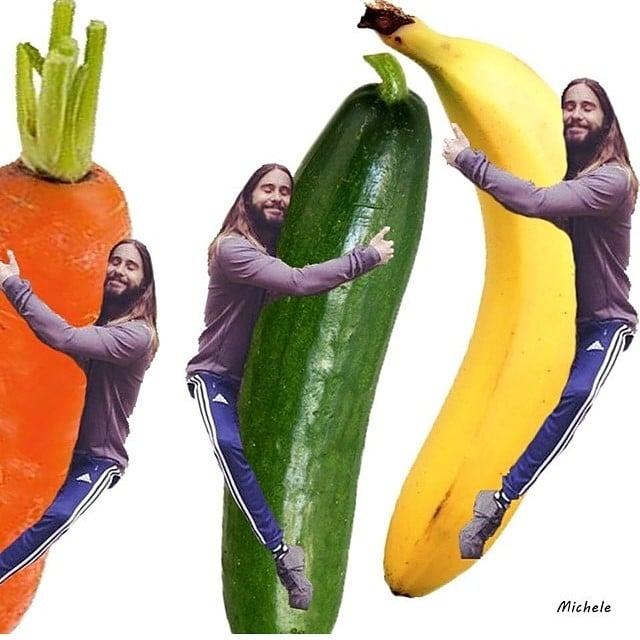 Jared Hugging Vegetables