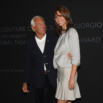Sarah Larson Is Pals with Giorgio Armani