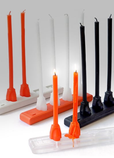 Candlestrip Looks Like Taper Candles Plug Into an Outlet
