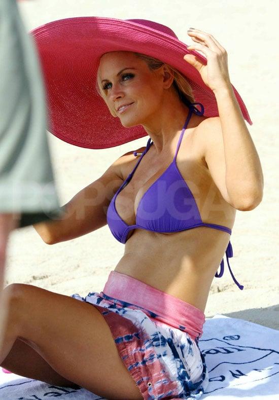 Jenny McCarthy Sets Sail in an Alluring Purple Bikini