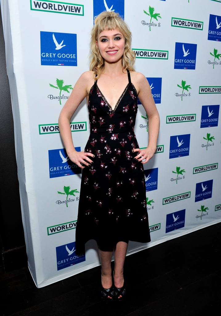 A pretty, embellished slip dress was a fresh choice for a party at the Toronto International Film Festival.