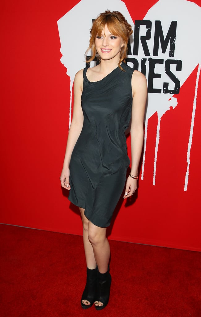 Bella Thorne attended the premiere of Warm Bodies in LA.