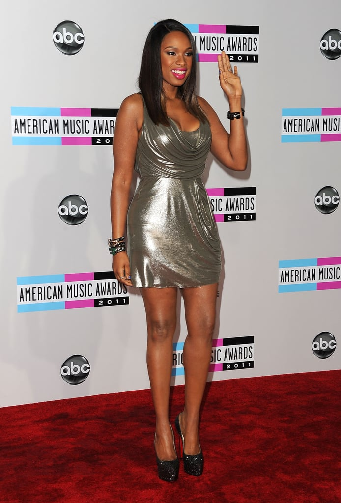 Jennifer Hudson wore silver to the American Music Awards.