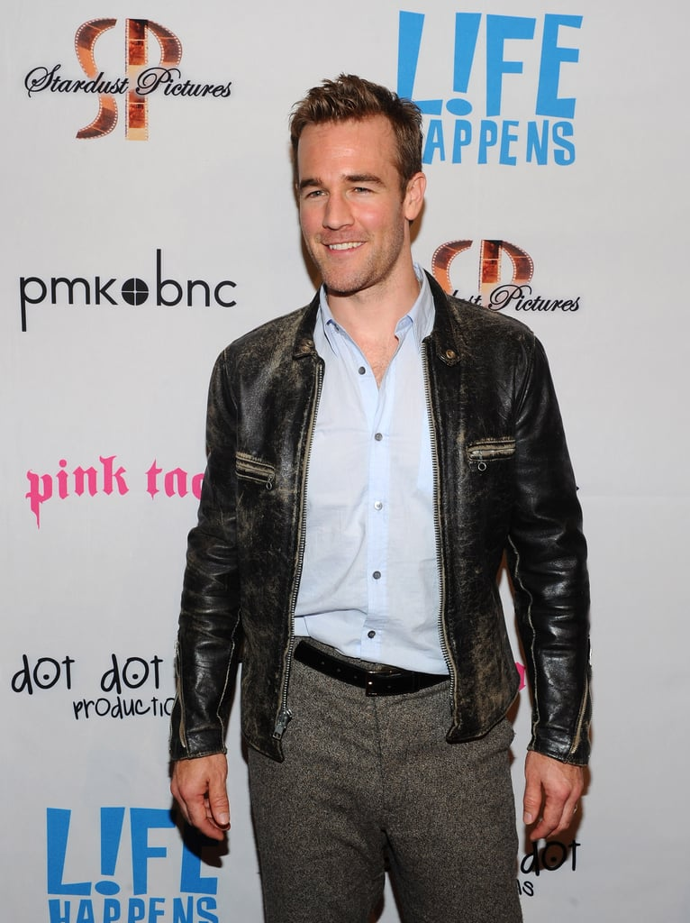 James Van Der Beek wore a black leather jacket to the premiere of Life Happens in Century City.