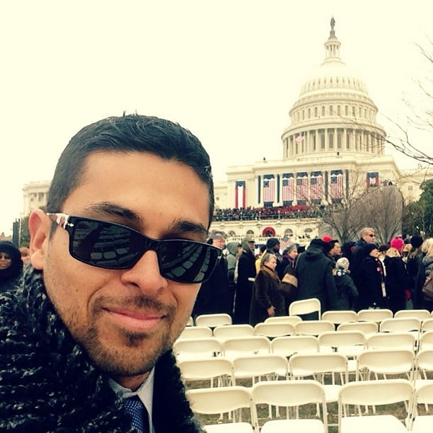 On Monday, Wilmer Valderrama sat in the audience for the public swearing-in ceremony. Source: Instagram user WilmerValderrama