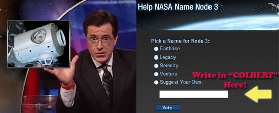 Colbert Nation to Conquer Outer Space