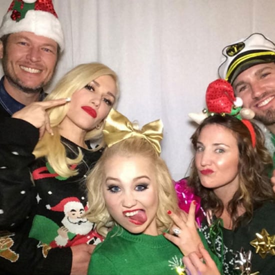 Blake Shelton and Gwen Stefani Photo Booth Pictures 2015