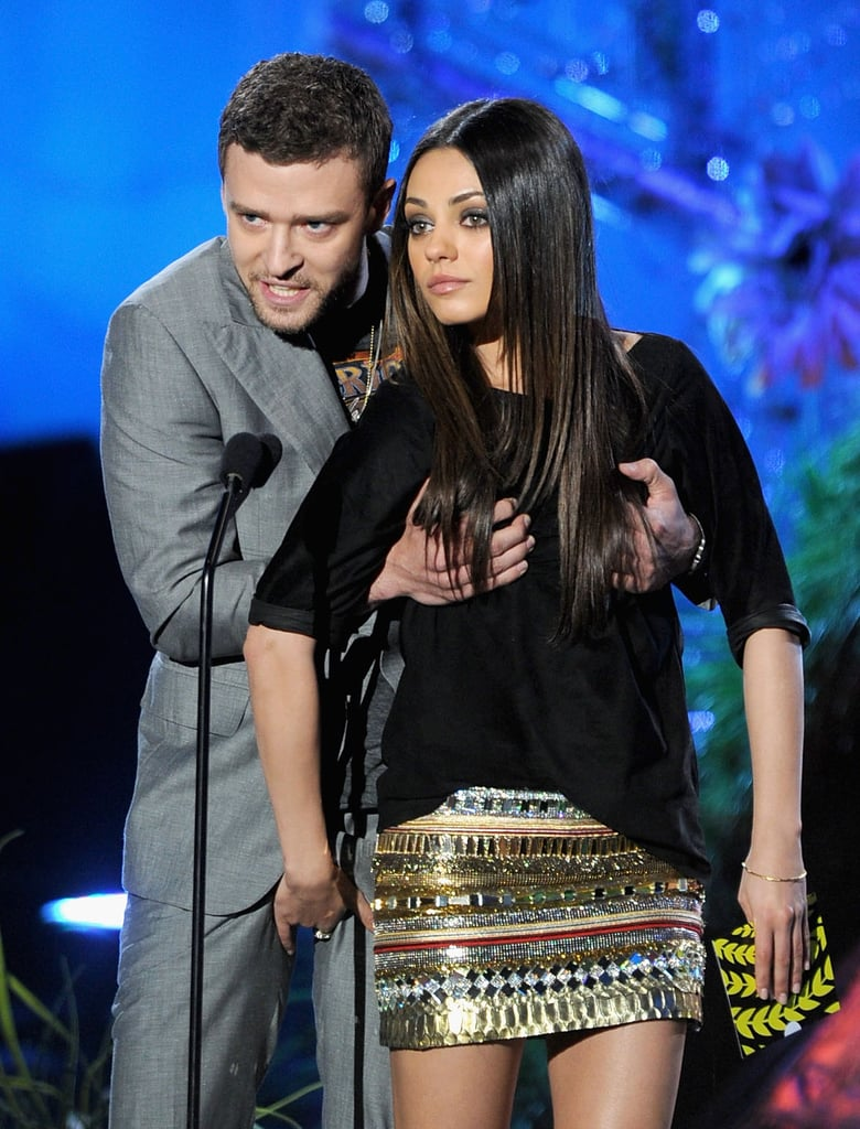 Pictures of Mila Kunis and Justin Timberlake at the Moscow