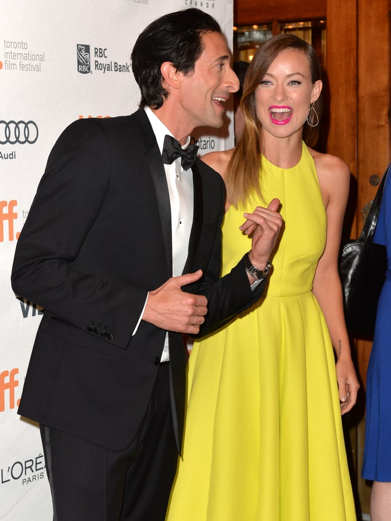 Adrien Brody and Olivia Wilde cracked up together at the Third Person premiere.