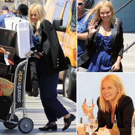 Pictures of Lara Bingle Off-Duty in LA and LAX With Camera Crew: Scope Her Street Style from Every Angle!