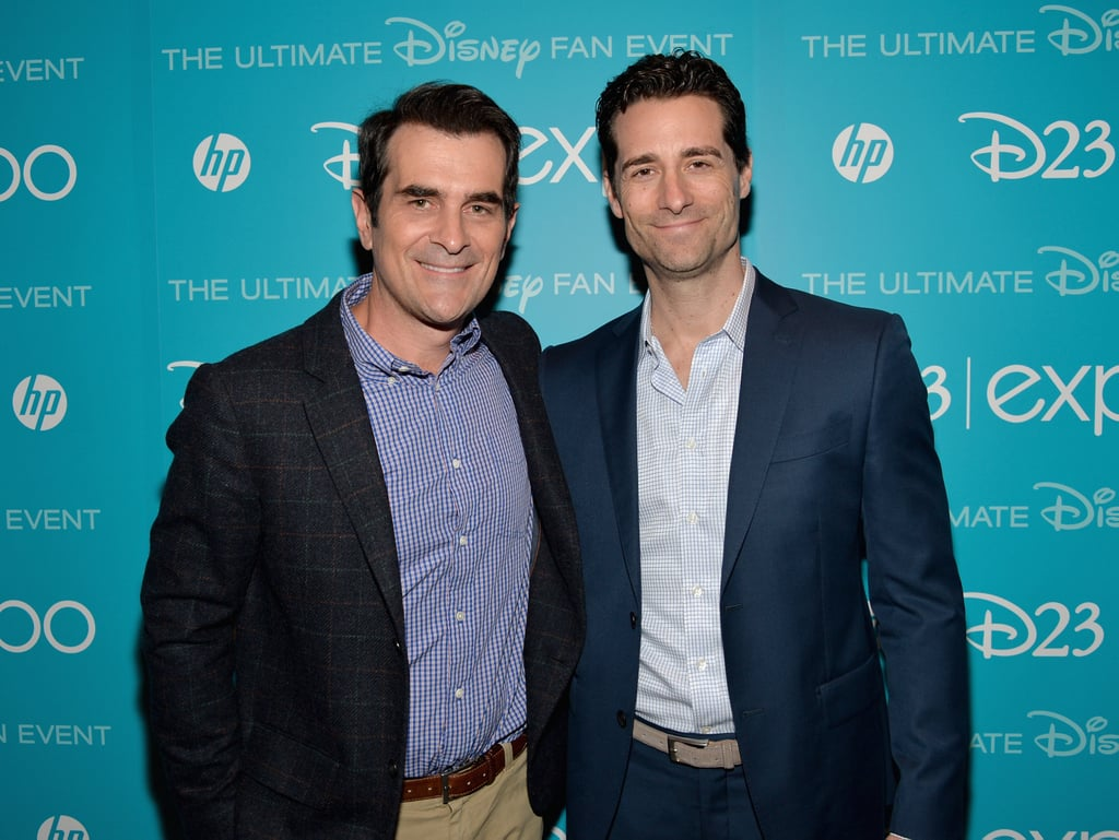 Modern Family's Ty Burrell snapped a picture with producer Todd Lieberman at the D23 Expo.