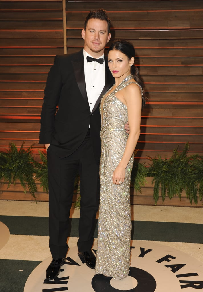 Channing Tatum and his wife, Jenna Dewan, cozied up.