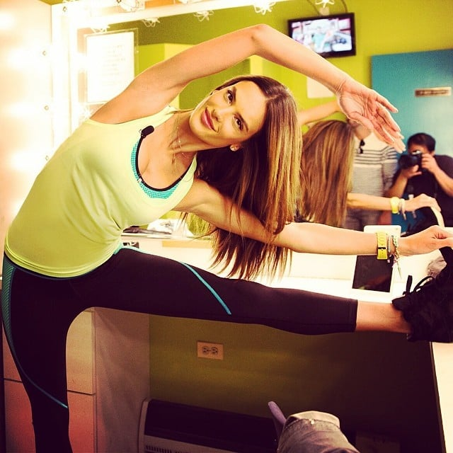 Alessandra Ambrosio showed off her flexibility. Source: Instagram user alessandraambrosio