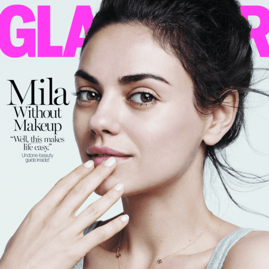 Mila Kunis Without Makeup in Glamour