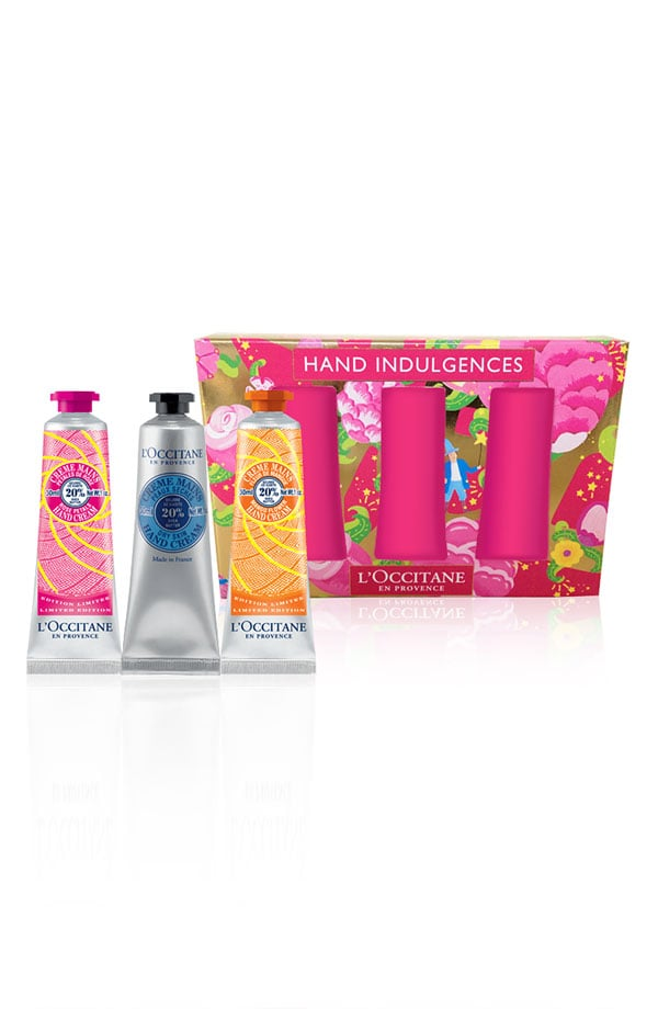 L'Occitane's 'hand indulgences' hand cream set ($28) features the brand's signature hand lotion in a cute printed box. Simply order by Dec. 21 for free shipping and Christmas Eve delivery.