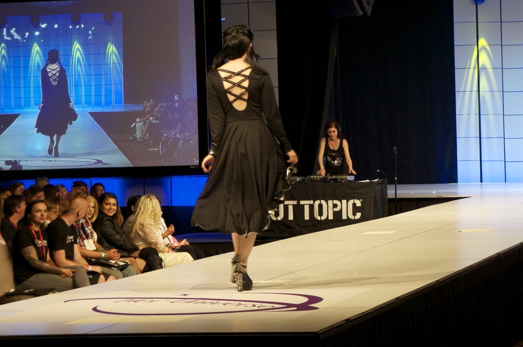 Love the high-low look of this dress's skirt and its overall goth chic vibe. Vampy makeup is a must. Photo: Nicole Nguyen