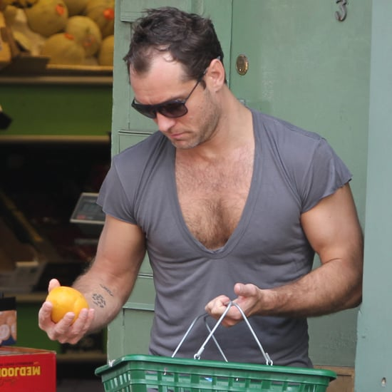 Jude Law in a Low-Cut Shirt | Pictures