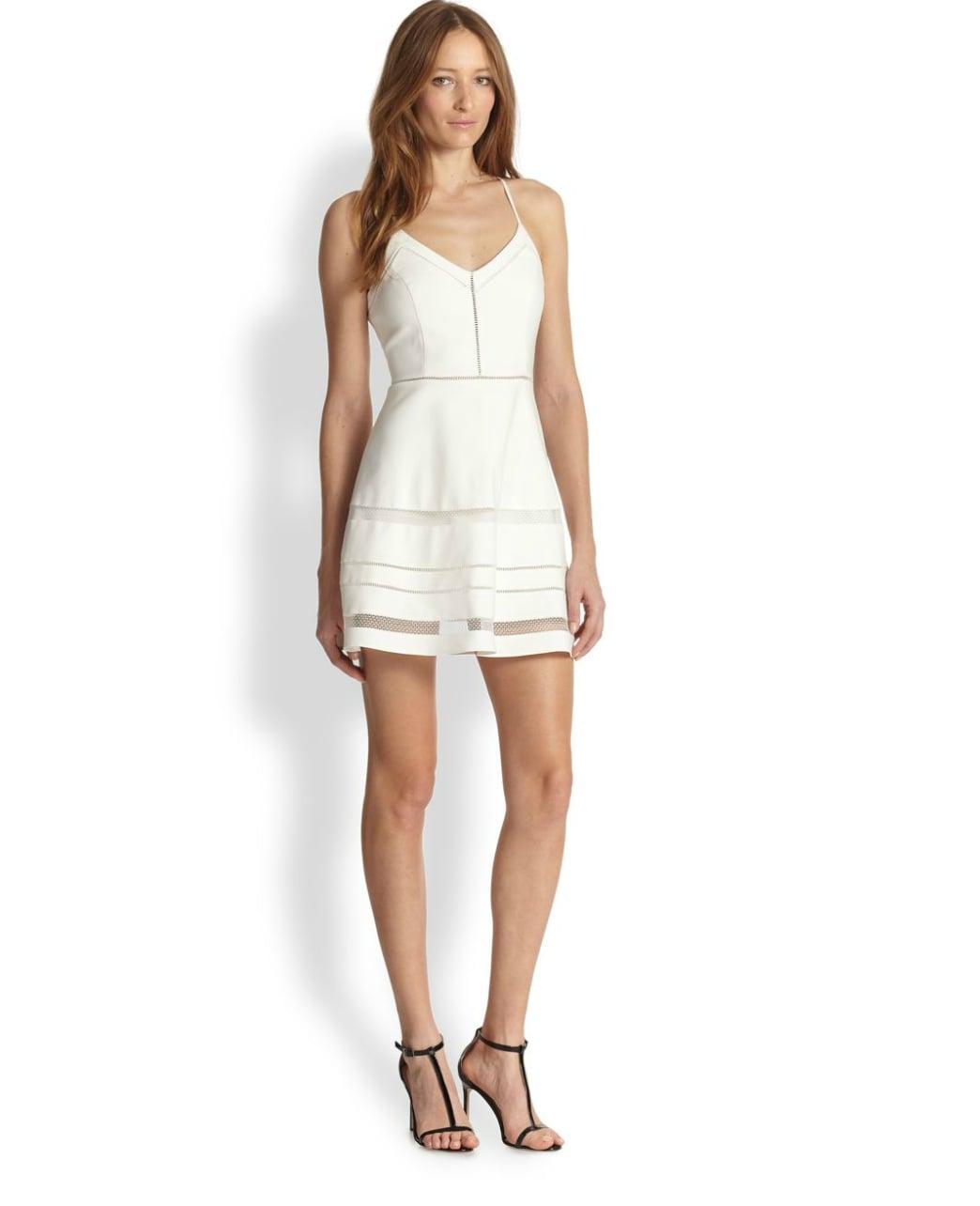 Parker White Halter Dress