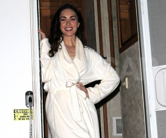 Slide Photo of Megan Fox Wearing a Robe