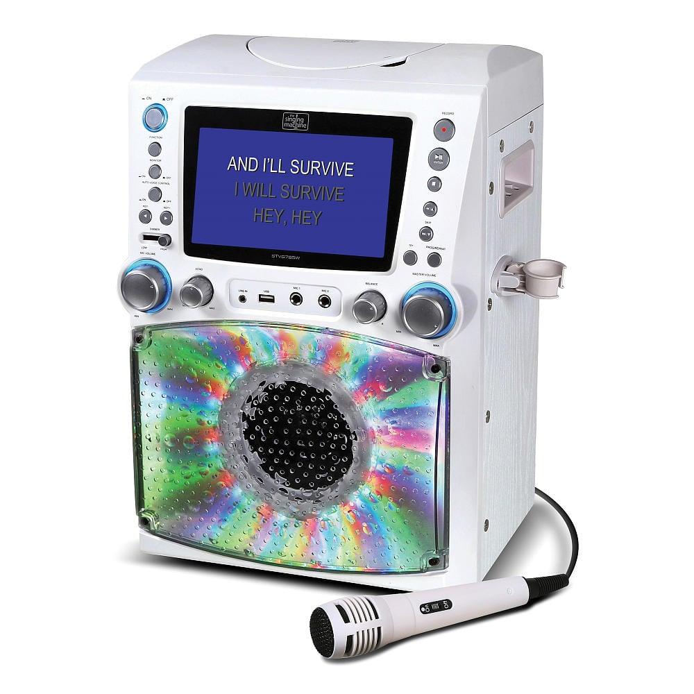 Singing Machine Lights & Recording Karaoke