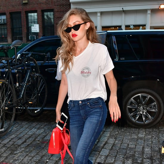 Gigi Hadid Wearing Slides